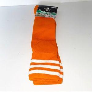 Adidas Orange Soccer Socks Size M - New